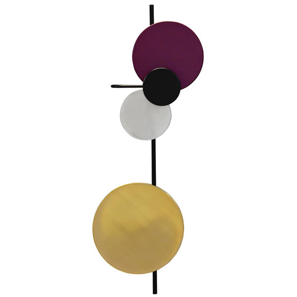 PLEASE WAIT to be SEATED Planet wall lamp, plum