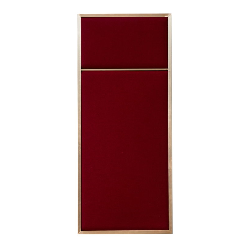 PLEASE WAIT to be SEATED Nouveau Pin board, small, brass - red
