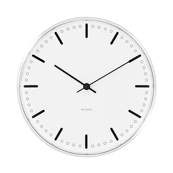 Arne Jacobsen AJ City Hall wall clock, 21 cm