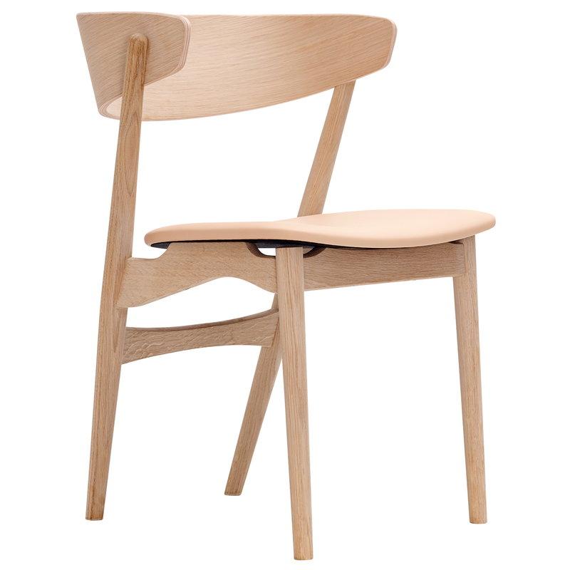 Sibast No 7  tuoli, saippuoitu tammi - hunajanvärinen nahka
