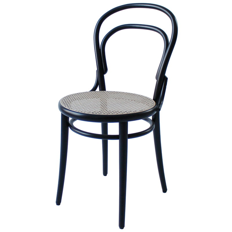 TON Chair 14, cane - black