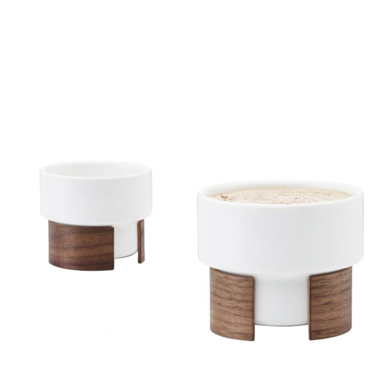 Tonfisk Design Warm cappuccinokuppi 1,6 dl, 2 kpl, pähkinäpuu