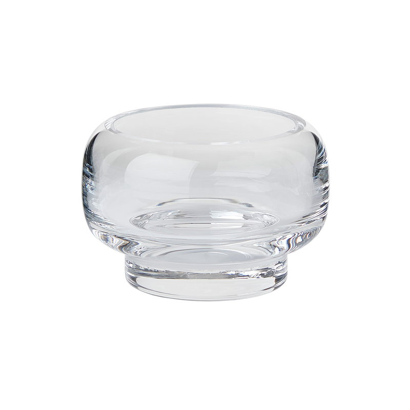 Warm Nordic Stack tealight holder, small, clear