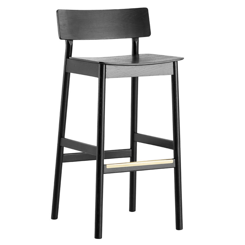 Sensational Pause Bar Stool 75 Cm Black Inzonedesignstudio Interior Chair Design Inzonedesignstudiocom