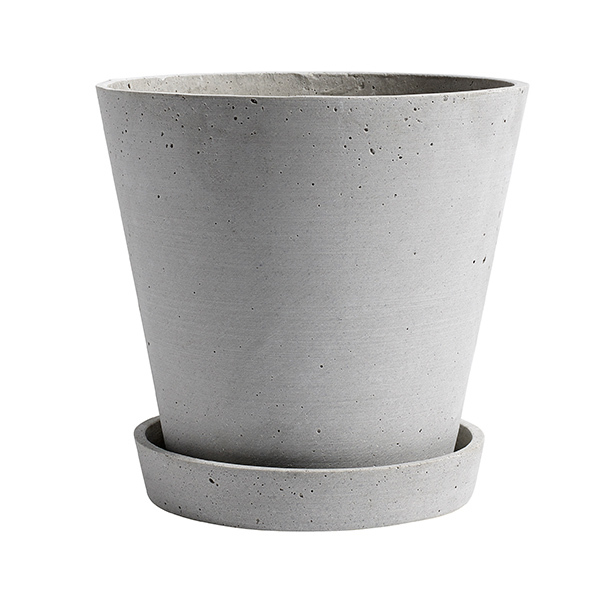 Hay Flowerpot and saucer, XL, grey
