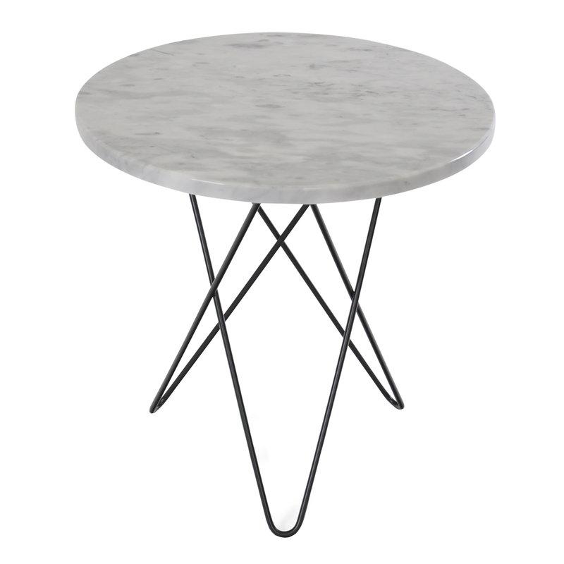 OX Denmarq Tall Mini O table, black - white marble