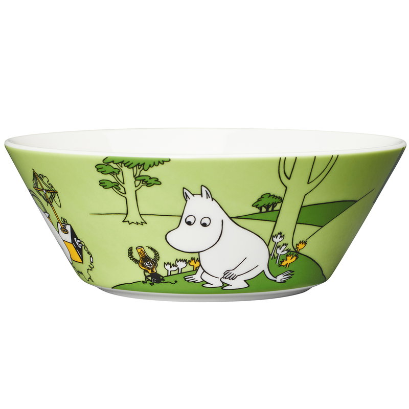 Arabia Moomin bowl, Moomintroll, grass green