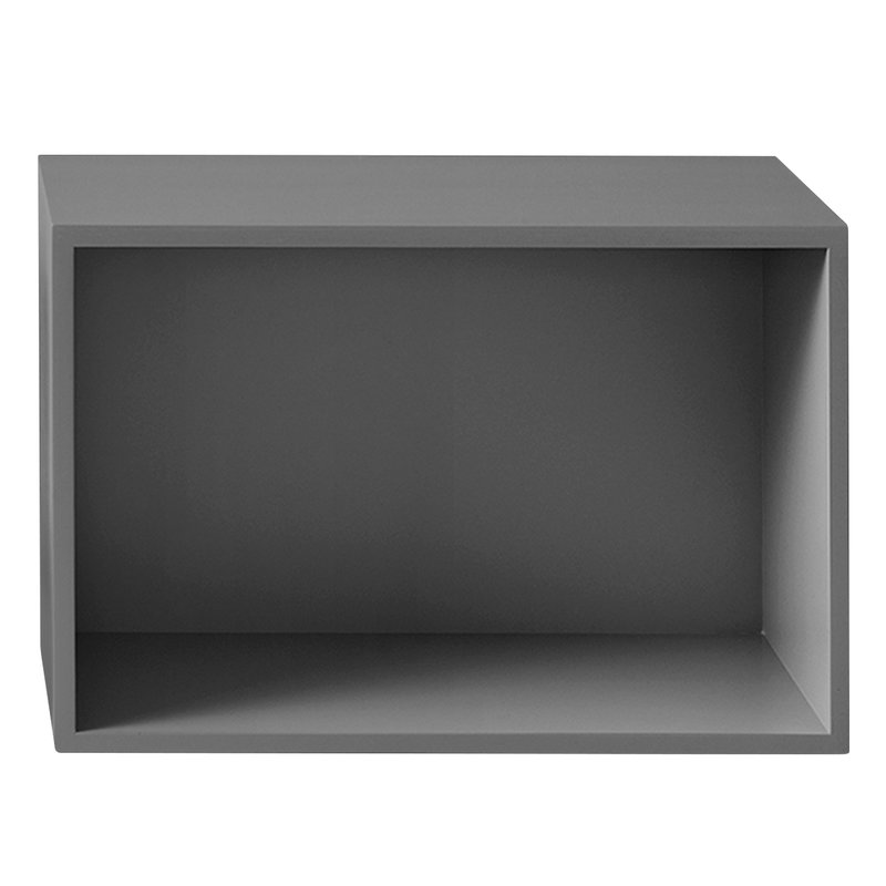 Muuto Stacked 2.0 shelf module w/ background, large, grey