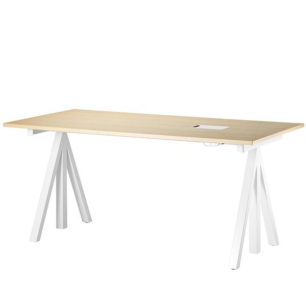 String String Works height adjustable work desk, 180 cm, ash