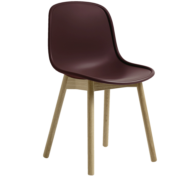 Hay Neu 13 chair, bordeaux - matt lacquered ash