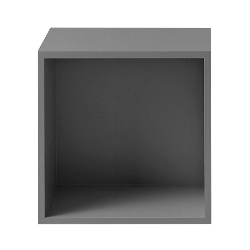 Muuto Stacked 2.0 shelf module w/ background, medium, grey