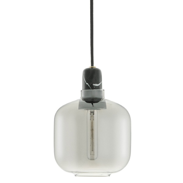 Normann Copenhagen Amp pendant, small, smoke - black