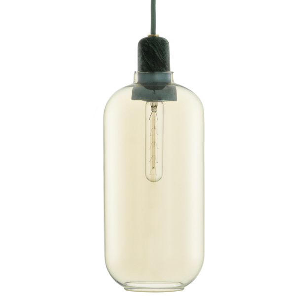 Normann Copenhagen Amp pendant, large, gold - green