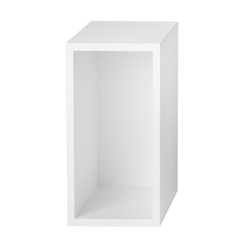 Muuto Stacked 2.0 shelf module w/ background, small, white