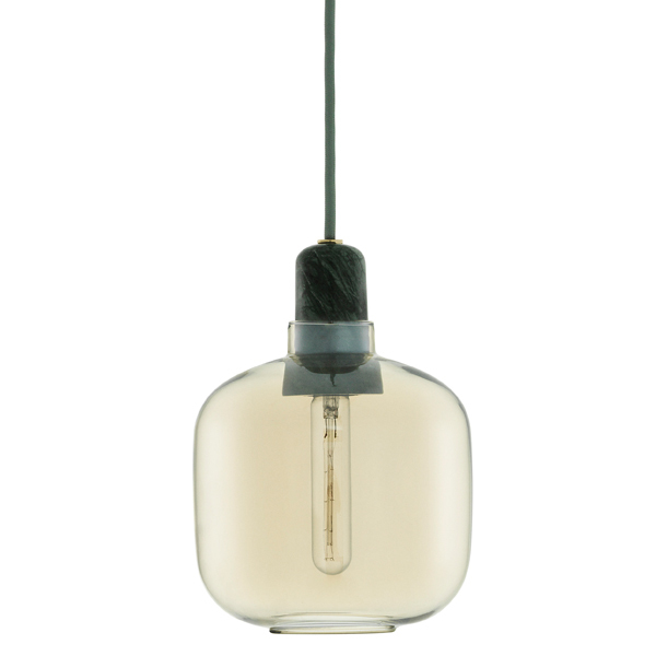 Normann Copenhagen Amp pendant, small, gold - green