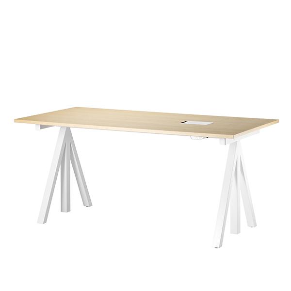 String String Works korkeussäädettävä pöytä 140 cm, saarni