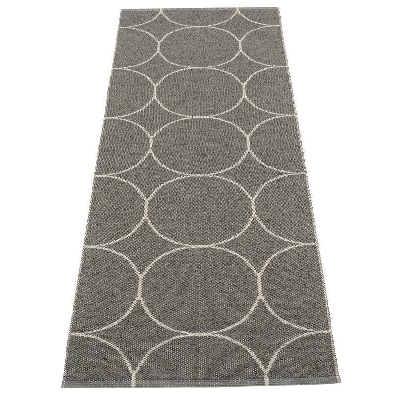 Pappelina Boo matto 70 x 200 cm, hiili - pellava