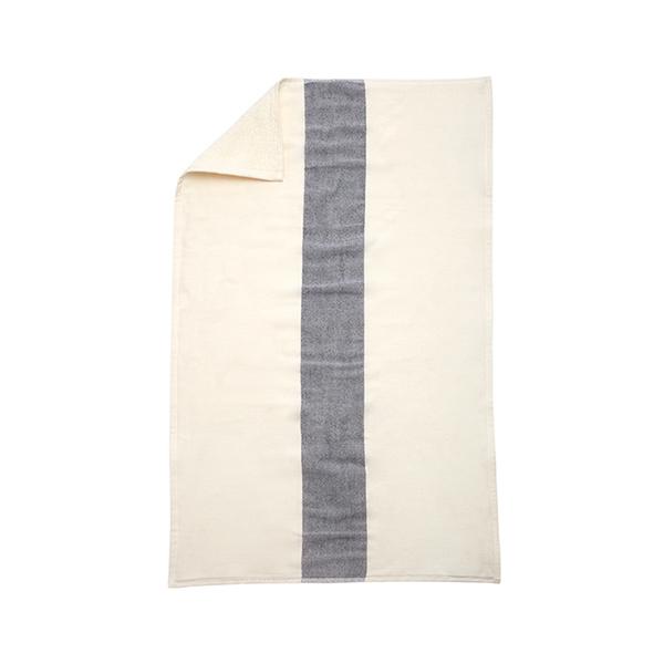 Skagerak Asciugamano Stripes 40 x 60 cm, bianco / blu scuro
