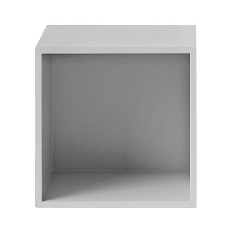 Muuto Modulo Stacked 2.0 con fondo, medio, grigio chiaro
