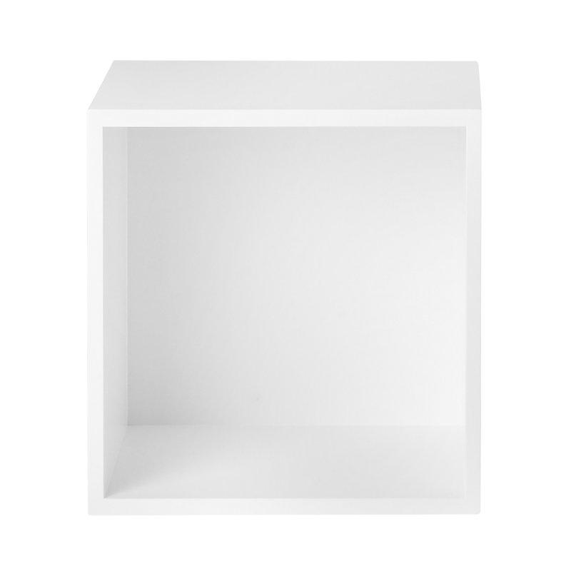 Muuto Stacked 2.0 shelf module w/ background, medium, white
