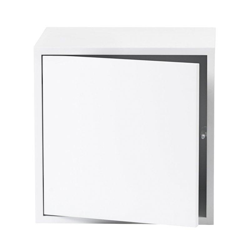 Muuto Stacked 2.0 shelf module w/ door, medium, white