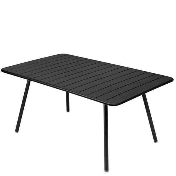 Fermob Luxembourg table, 165 x 100 cm, liquorice