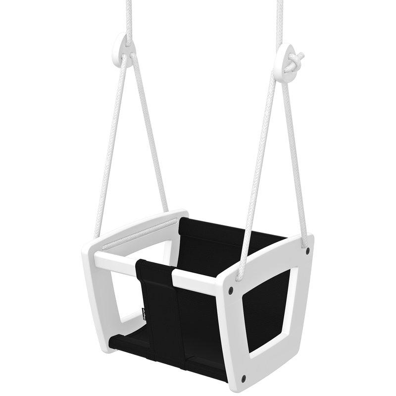 Lillagunga Altalena Lillagunga Toddler, bianca - seduta nera