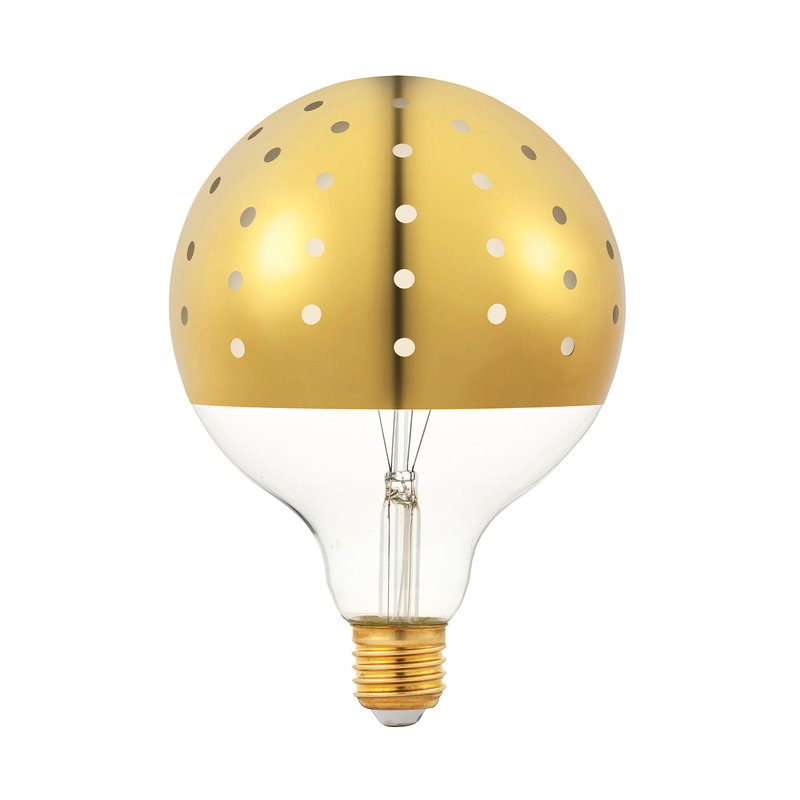 Tivoli Dot LED bulb E27 3W, gold