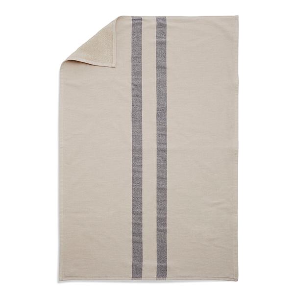 Skagerak Telo da doccia Stripes 70 x 140 cm, crema / blu scuro