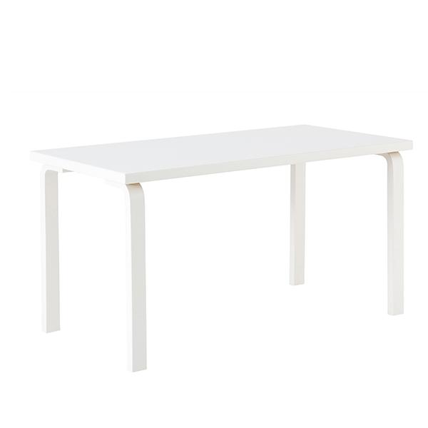 Artek Tavolo Aalto 82A, tutto bianco