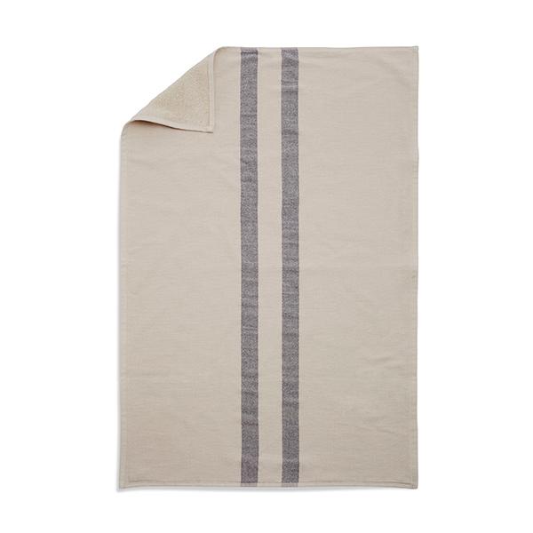 Skagerak Asciugamano Stripes 50 x 100 cm, crema / blu scuro