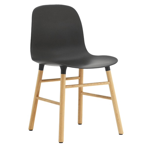 Normann Copenhagen Form chair, black - oak