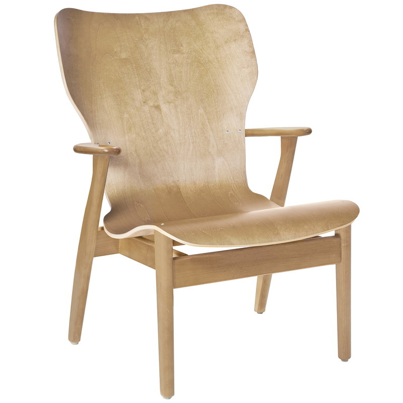 Artek Domus lounge chair, lacquered birch