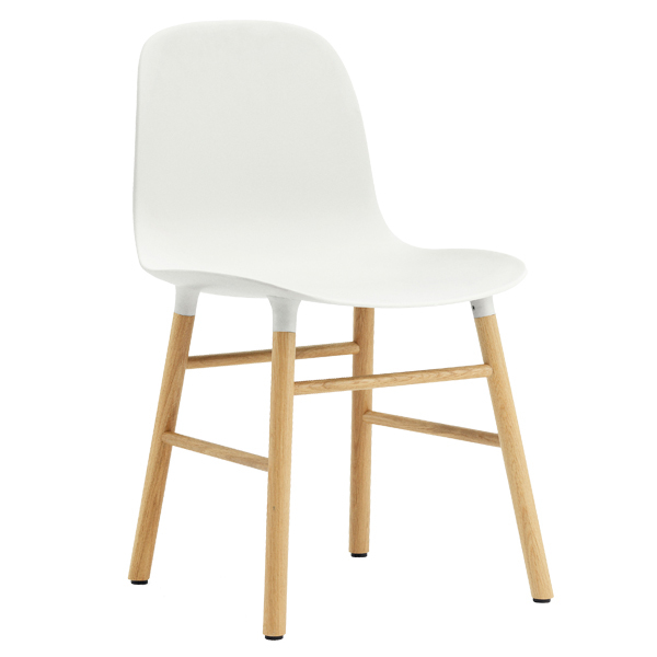 Normann Copenhagen Form Chair, White/oak