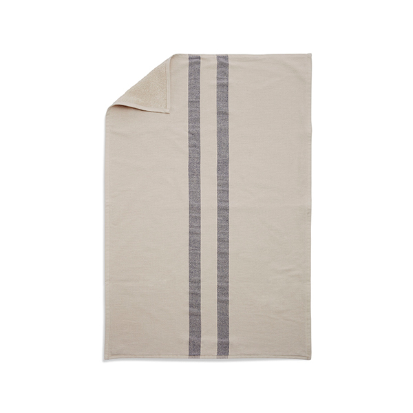 Skagerak Asciugamano Stripes 40 x 60 cm, crema / blu scuro