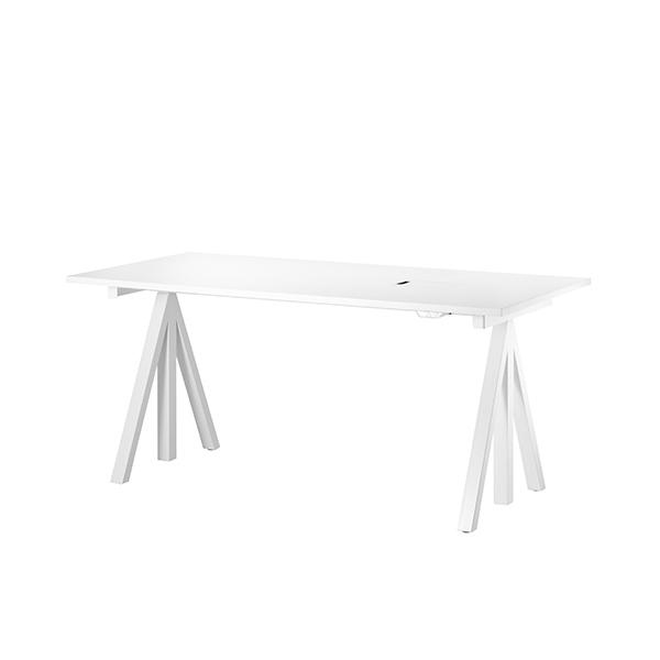 String String Works korkeussäädettävä pöytä 120 cm, valkoinen