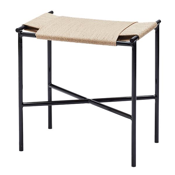 Skagerak Vent stool, black - paper cord