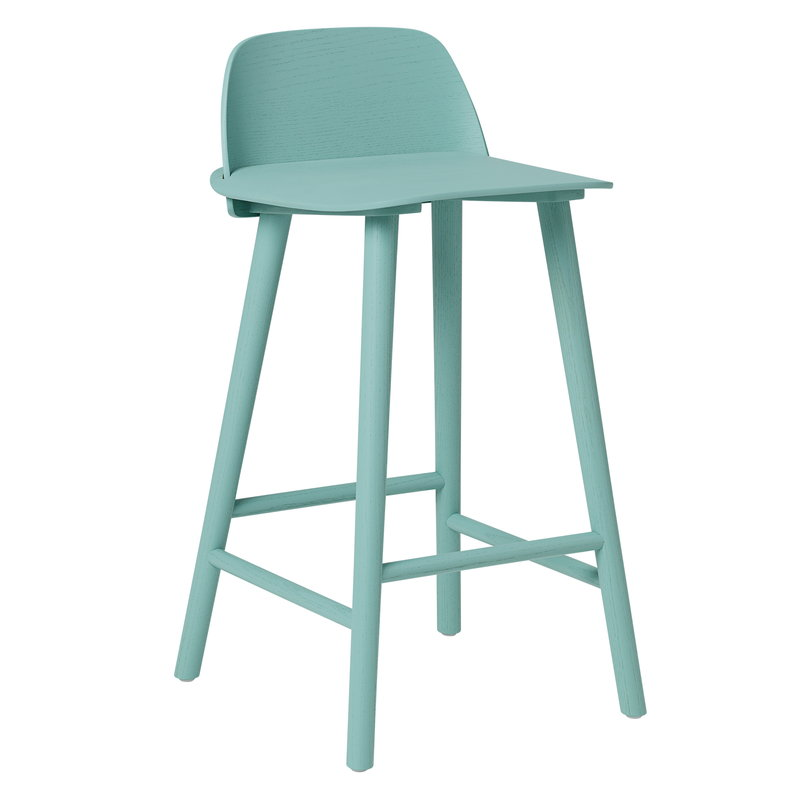 Muuto Nerd bar stool, low, petroleum