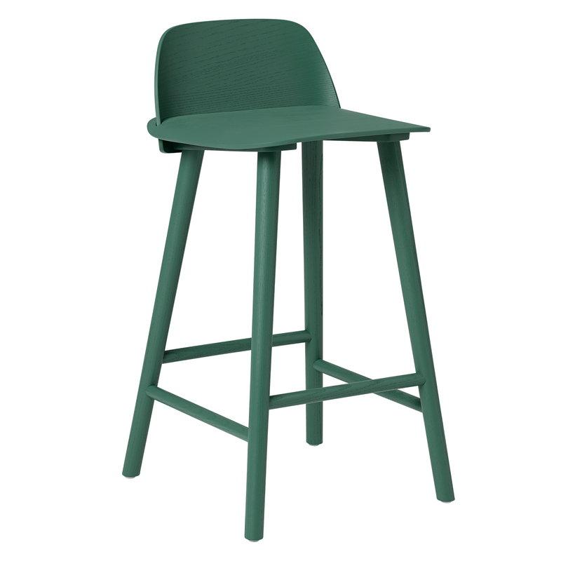 Brilliant Muuto Nerd Bar Stool Low Green Finnish Design Shop Pabps2019 Chair Design Images Pabps2019Com
