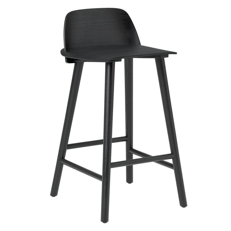 Muuto Nerd bar stool, low, black