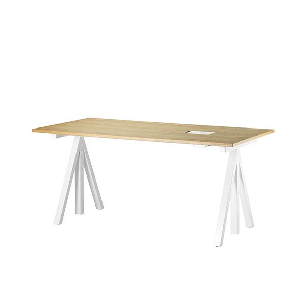 String String Works height adjustable work desk, 120 cm, oak