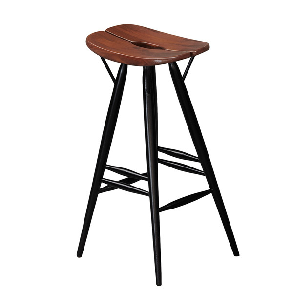Artek Pirkka bar stool, brown-black