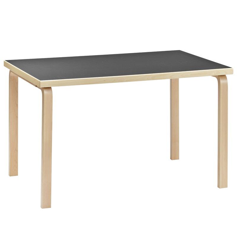 Artek Aalto table 81B, birch - black