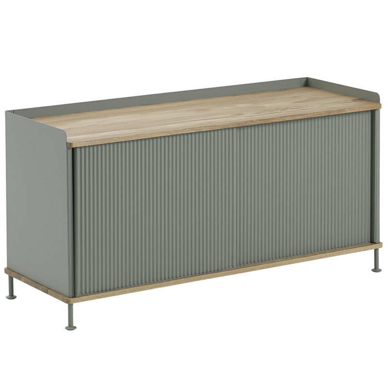 Muuto Credenza Enfold, bassa, rovere - dusty green