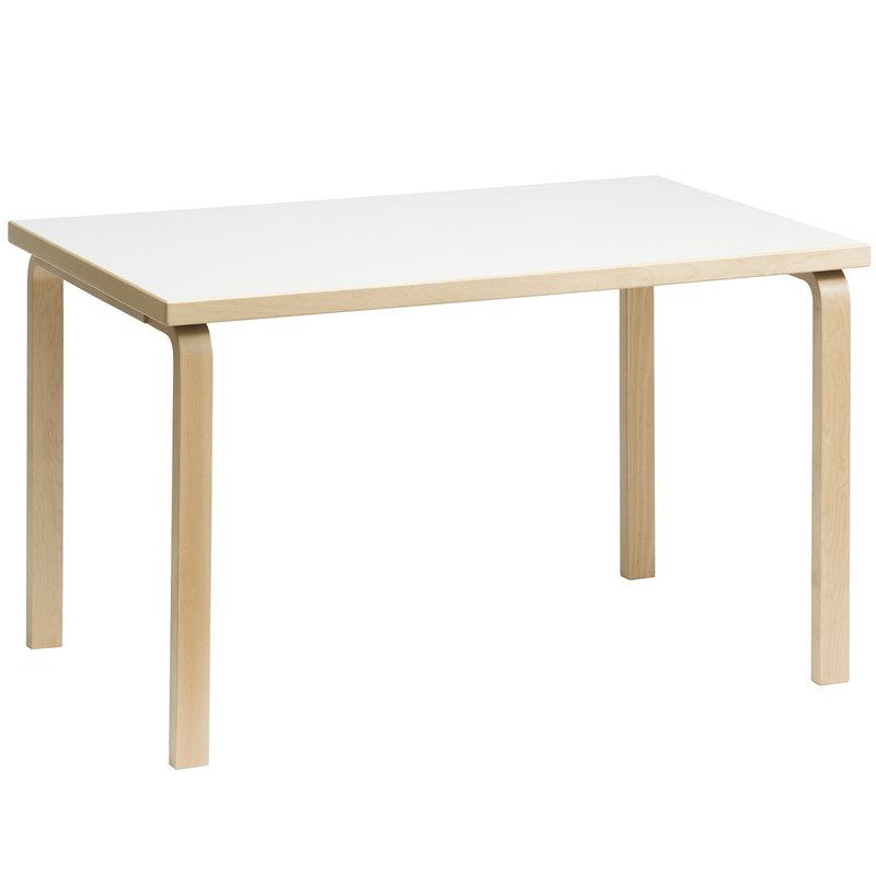 Artek Aalto table 81B, birch - white