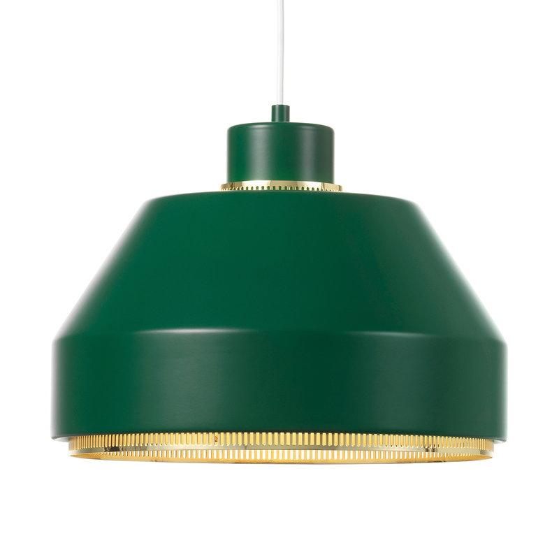 Artek AMA 500 pendant, dark green - brass
