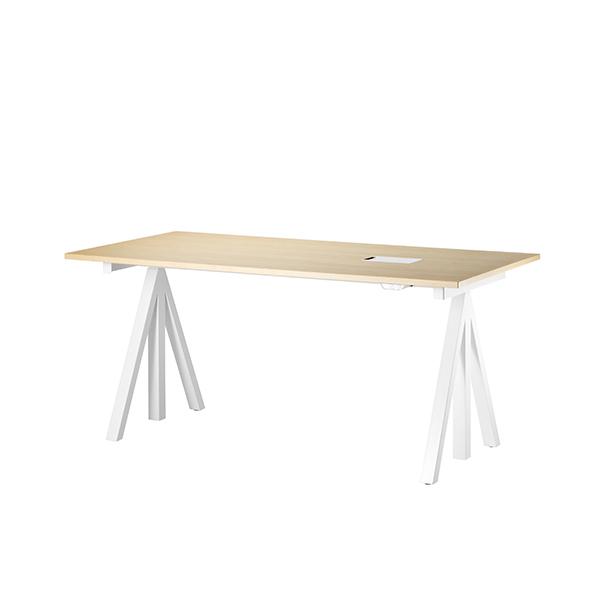 Tivoli String Works height adjustable work desk, 120 cm, ash