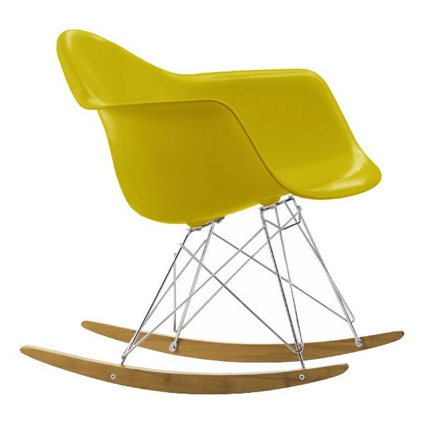Vitra Eames RAR rocking chair, mustard