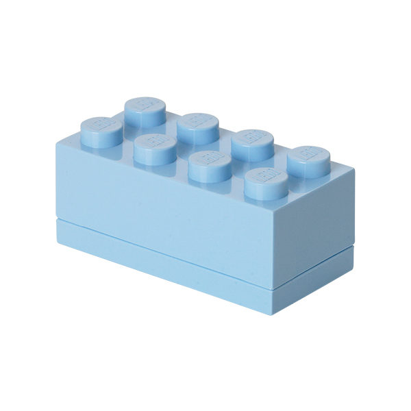 Room Copenhagen Lego mini box 8, light blue