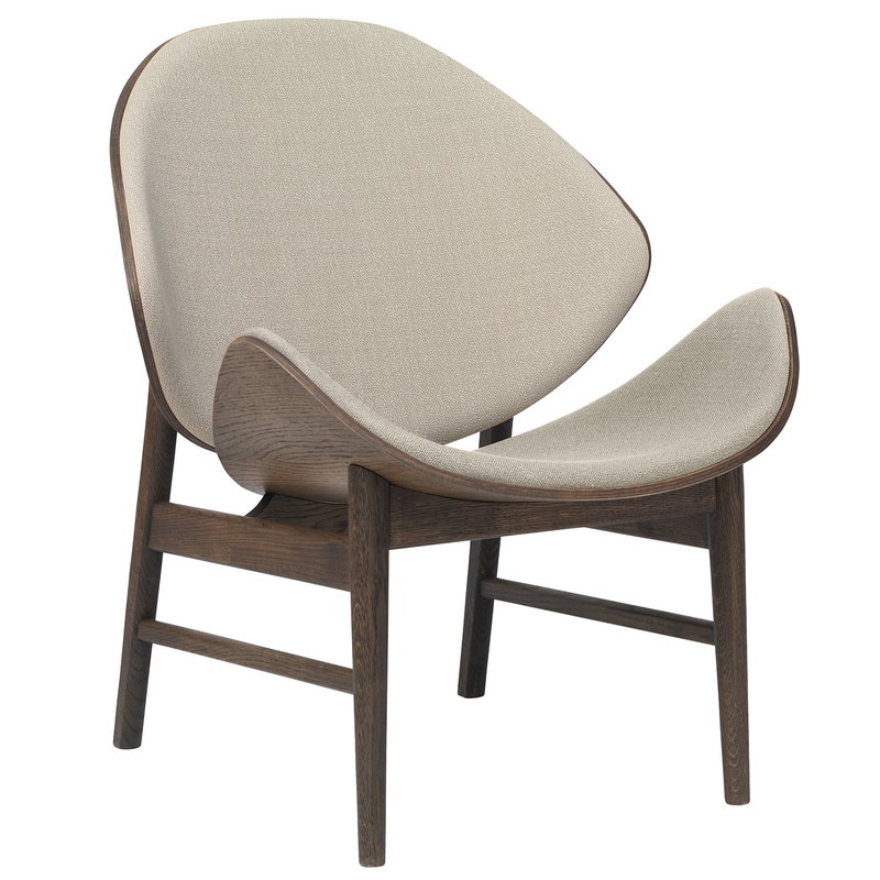 Warm Nordic The Orange lounge chair, smoked oak - grey
